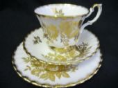 Royal Albert GOLDEN ROSE tea trio
